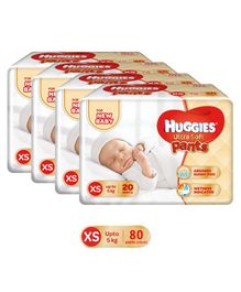 Huggies Ultra Soft Premium Pants For New Baby - 20 Pieces Pack of 4