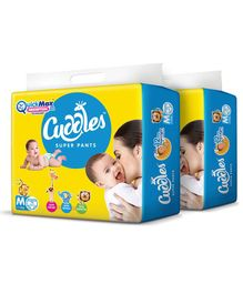 Cuddles Pant Style Diapers Medium - 74 Pieces (Pack of 2)