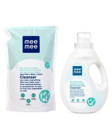 Mee Mee 1500 Ml Vegetable Liquid Cleanser with 1200 ml Refill pack