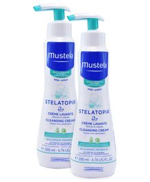 Mustela Stelatopia Cleansing Cream - 200 ml - Pack  Of 2