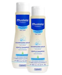 Mustela Gentle Shampoo - 200 ml  - Pack  Of 2
