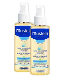 Mustela Baby Oil - 100 ml  - Pack  Of 2
