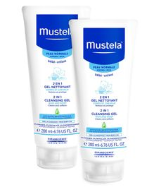 Mustela 2 in 1 Cleansing Gel - 200 ml  - Pack  Of 2