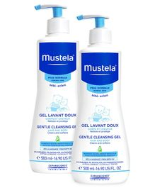 Mustela Gentle Cleansing Gel - 500 ml  - Pack  Of 2