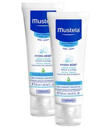 Mustela Hydra Bebe Facial Cream - 40 ml  - Pack  Of 2