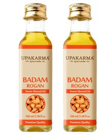 Upakarma Ayurveda's Badam Rogan Sweet Almond Oil - 100 ml - Pack of 2