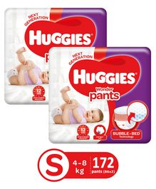 Huggies Wonder Pants Small Pant Style Diapers - 86 Pieces (Pack of 2)