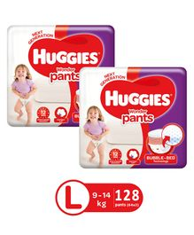Huggies Wonder Pants Large Size Pant Style Diapers - 64 Pieces (Pack of 2)