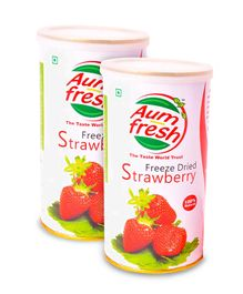 Aumfresh Freeze Dried Strawberry - 25 gm - Pack of 2