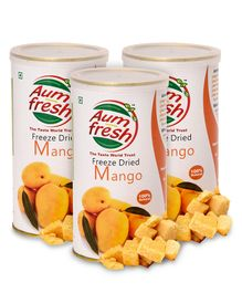 Aumfresh Freeze Dried Mango - 25 gm - Pack of 3