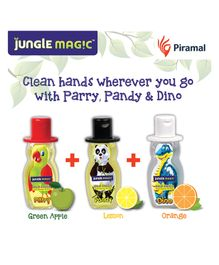 Jungle Magic Hand Sanitizer for kids - Pack of 3 (Pandy, Parry & Dino) ? 50ml each