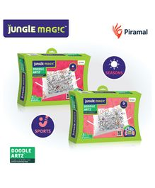 Jungle Magic Doodle Artz - (Sports - Seasons themes) Pack of 2