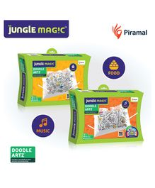 Jungle Magic Doodle Artz - (Food - Music themes) Pack of 2
