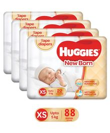 Huggies Taped Diapers For New Baby -22 Pieces (Pack of 4 )