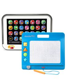 Fisher Price Laugh And Learn Smart Stages Touch Screen Tablet  & Fisher Price Doodle Pro Slim - Blue