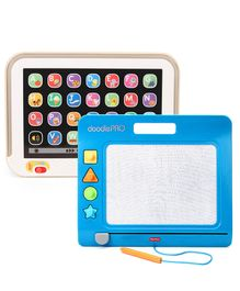 Fisher Price Laugh And Learn Smart Stages Touch Screen Tablet - White & Fisher Price Doodle Pro Slim - Blue
