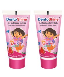 DentoShine Dora Gel Tooth Paste For Kids Strawberry Flavour Pack of 2