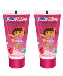 DentoShine Dora Gel Tooth Paste For Kids Raspberry Flavour Pack of 2