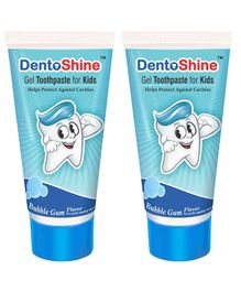 DentoShine Bubble Gum Flavoured Gel Toothpaste - 80 gm Pack of 2