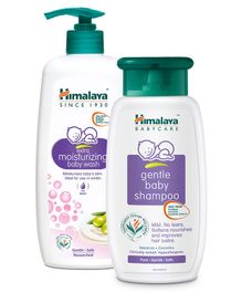 Himalaya Extra Moisturizing Baby Wash - 400ml & Gentle Baby Shampoo - 400 ml