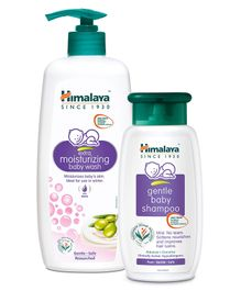Himlaya Extra Moisturizing Baby Wash - 400ml & Gentle Baby Shampoo - 200 ml