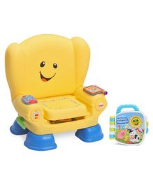 Fisher Price Counting Animal Friends Book - Multicolour & Fisher Price Laugh & Learn Smart Stages Chair - Yellow
