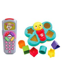 Fisher Price Butterfly Shape Sorter (Color May Vary) & Fisher Price Musical Remote Toy (Color May Vary)
