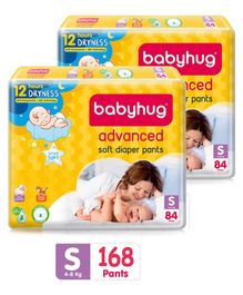 Babyhug Advanced Pant Style Diapers Small - 84 Pieces Pack of 2