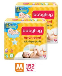 Babyhug Advanced Pant Style Diapers Medium - 76 Pieces Pack of 2