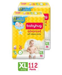 Babyhug Monthly Value Pack of Advanced Pant Style Diapers XL - 112 Pieces