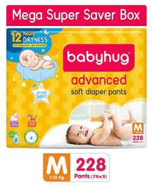 Babyhug Mega Super Saver Box of Advanced Pant Style Diapers Medium - 228 Pieces