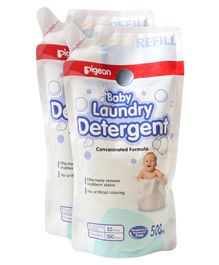 Pigeon Liquid Laundry Detergent Refill Pack - 500 ml(Pack of 2)