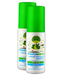 mamaearth Natural Mosquito Repellent Spray With Lemongrass Oil - 100 ml ( Pack of 2 )