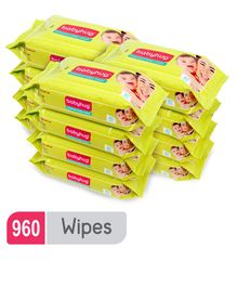 Babyhug Premium Baby Wipes - 80 Pieces ( Pack of 12 )