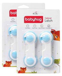 Babyhug Cabinet Latch Safety Pack - Blue