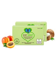 Bebe Nature Natural 100 Veg Baby Soap With Apricot Oil - 100 gm ( Pack of 2 )