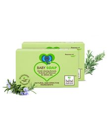 Bebe Nature Natural 100 Veg Baby Soap With Rosemary Oil  - 100 gm ( Pack of 2 )