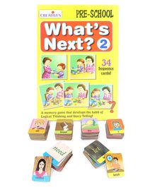 Awals Sentence Maker Learning Cards - 90 Pieces & Creative's Pre School What's Next 2 - 34 Cards