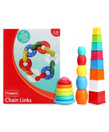 Giggles Chain Links & Stack N Nest Toy Set 3 in 1 - Multi Color