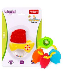 Giggles Teething Rattle My Boat - Yellow & Funskool Giggles Fish Teether