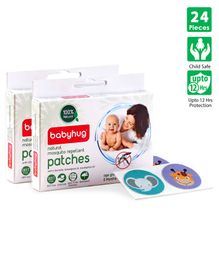 Babyhug Natural Mosquito Repellent Patches - 24 Pieces (12pcs x 2packs)