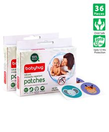 Babyhug Waterproof Natural Mosquito Repellent Patches - 36 Pieces (12pcs - 24pcs)