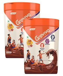 Groviva Child Nutrition Chocolate Flavour Supplement Jar - 400 gm (Pack of 2)