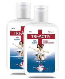 Tri-Activ Instant Alcohol Based Hand Sanitizer - 250 ml ( Pack of 2 )
