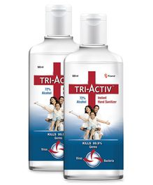 Tri-Activ Instant Alcohol Based Hand Sanitizer - 500 ml (Pack of 2 )