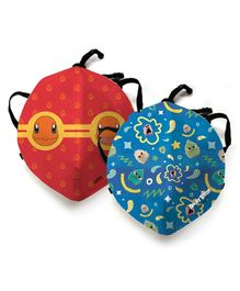 Angry Birds Anti Pollution Face Mask with Pokemon Squirtle Print Mask - Blue Red
