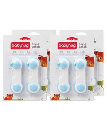 Babyhug Cabinet Latch Pack Of 8 - Blue