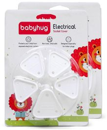 Babyhug Electrical Socket Cover Pack of 10 - White