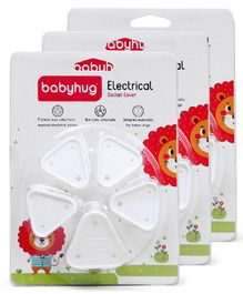 Babyhug Electrical Socket Cover Pack of 15 - White