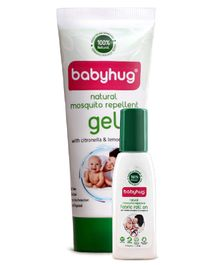 Babyhug Natural Mosquito Repellent Fabric Roll On - 8 ml & Gel - 50 ml